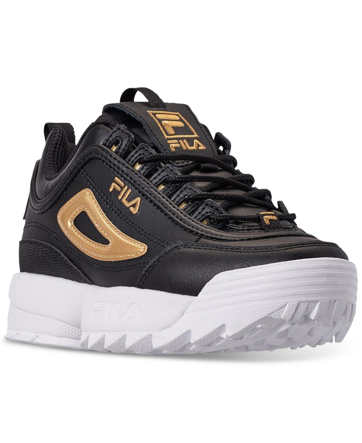 Fila Big Boys Disruptor 3 Metallic Flag Casual Sneakers from