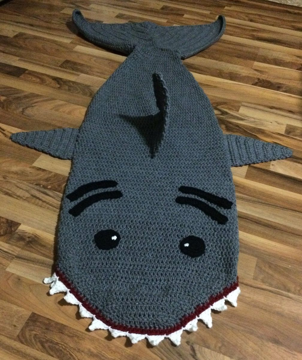 Crochet Shark Sleep Sack Pattern by DIYYarnProjects on Etsy ...