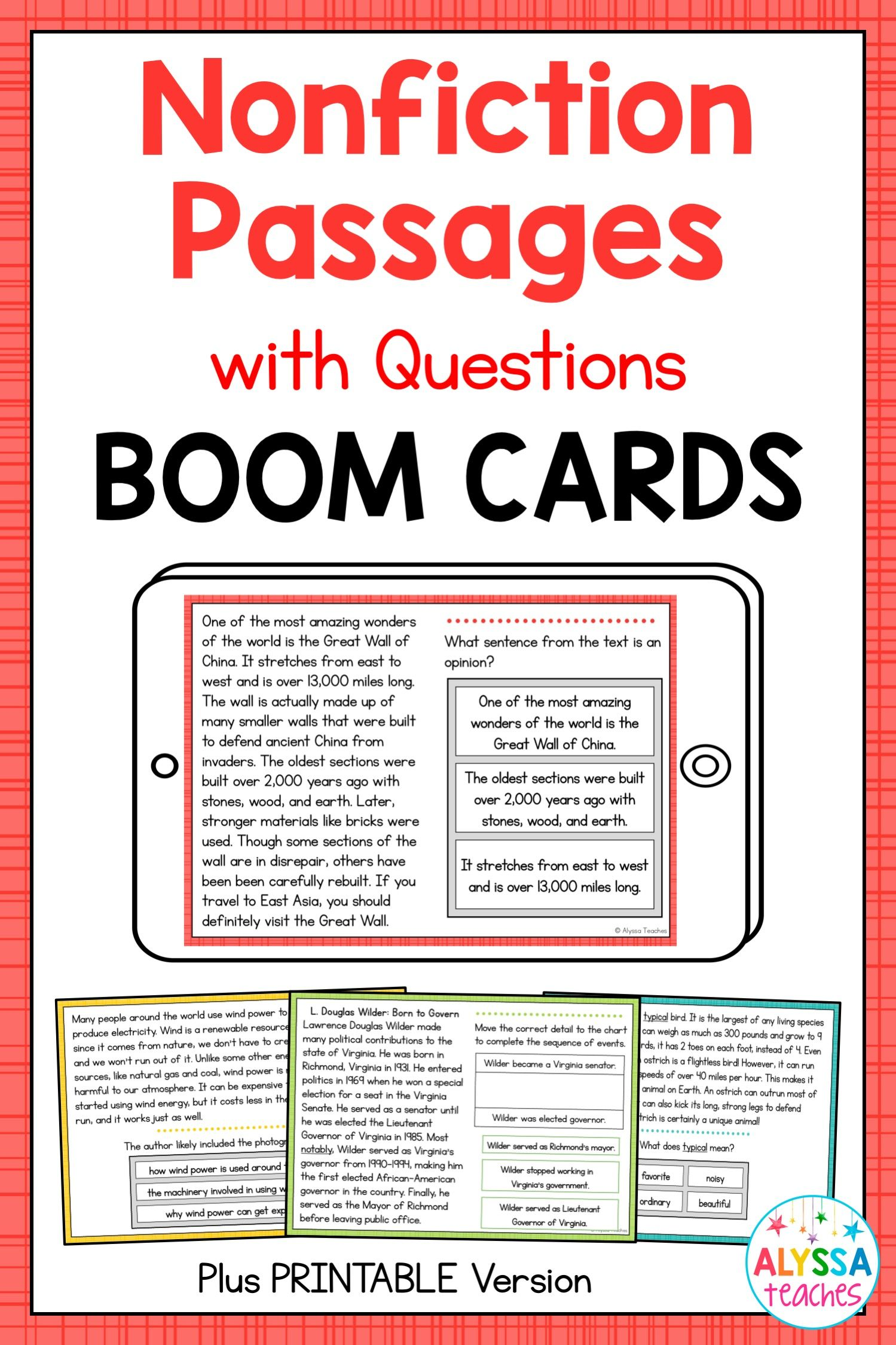 Nonfiction Reading Passages (Digital and Print Versions) | Tutoring