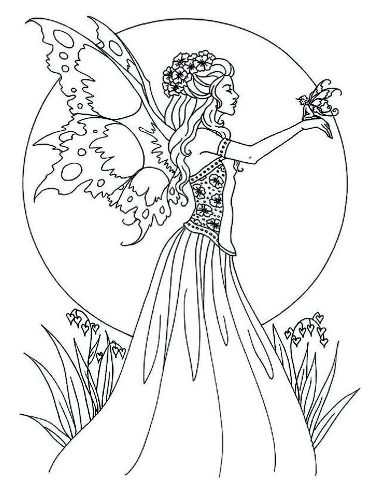Fairy Coloring Pages For Adults Printable Printable