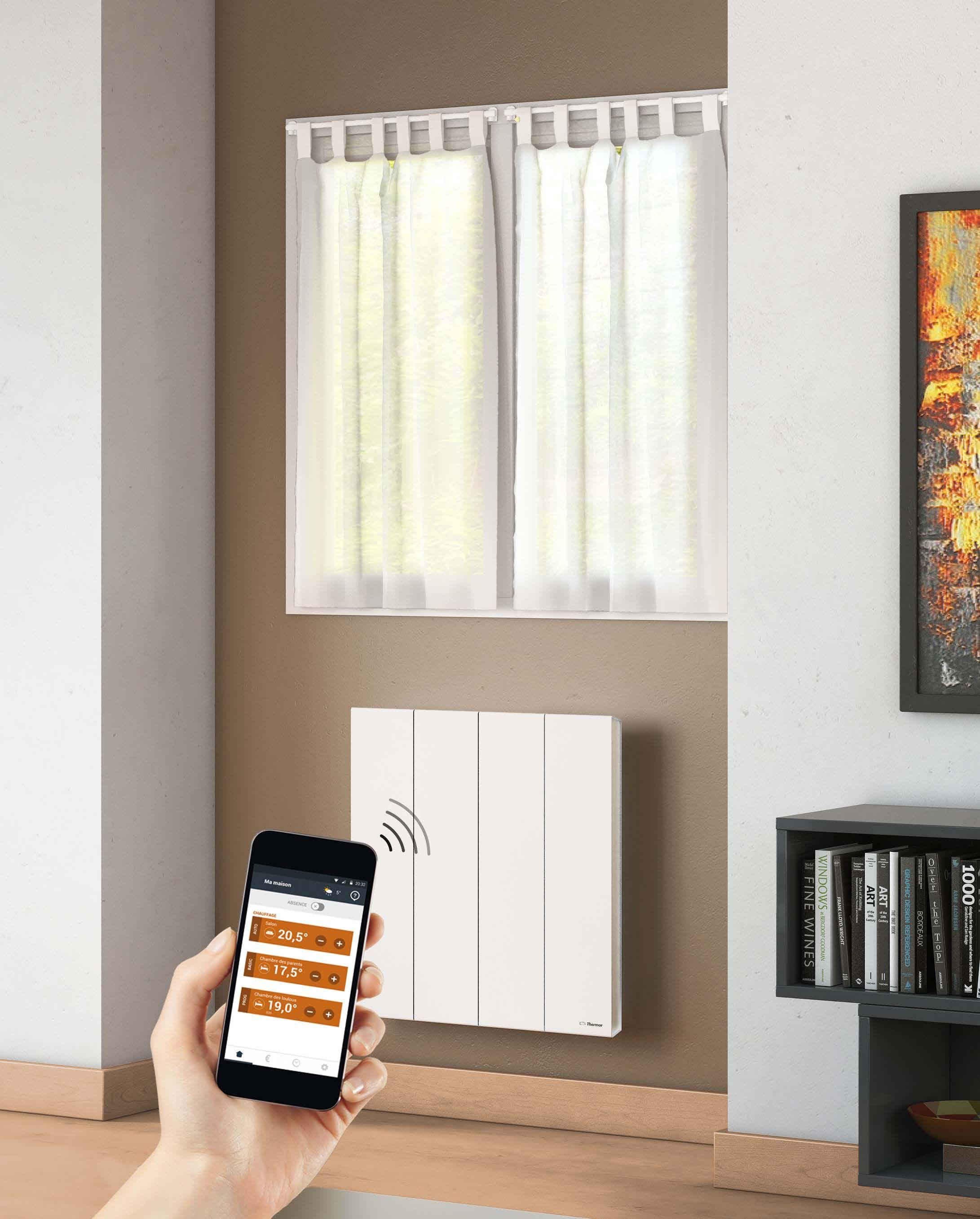 Un r�glage simple et rapide de vos radiateurs �lectriques Thermor depuis votre t�l�phone #domotique