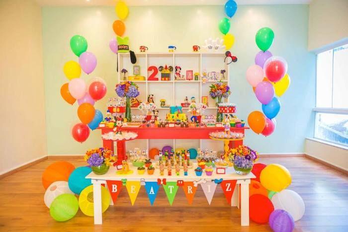 mickey mouse y sus amigos celebran con esta hermosa fiesta infantil u ideas para decoracion er cumple fabio pinterest mickey mouse
