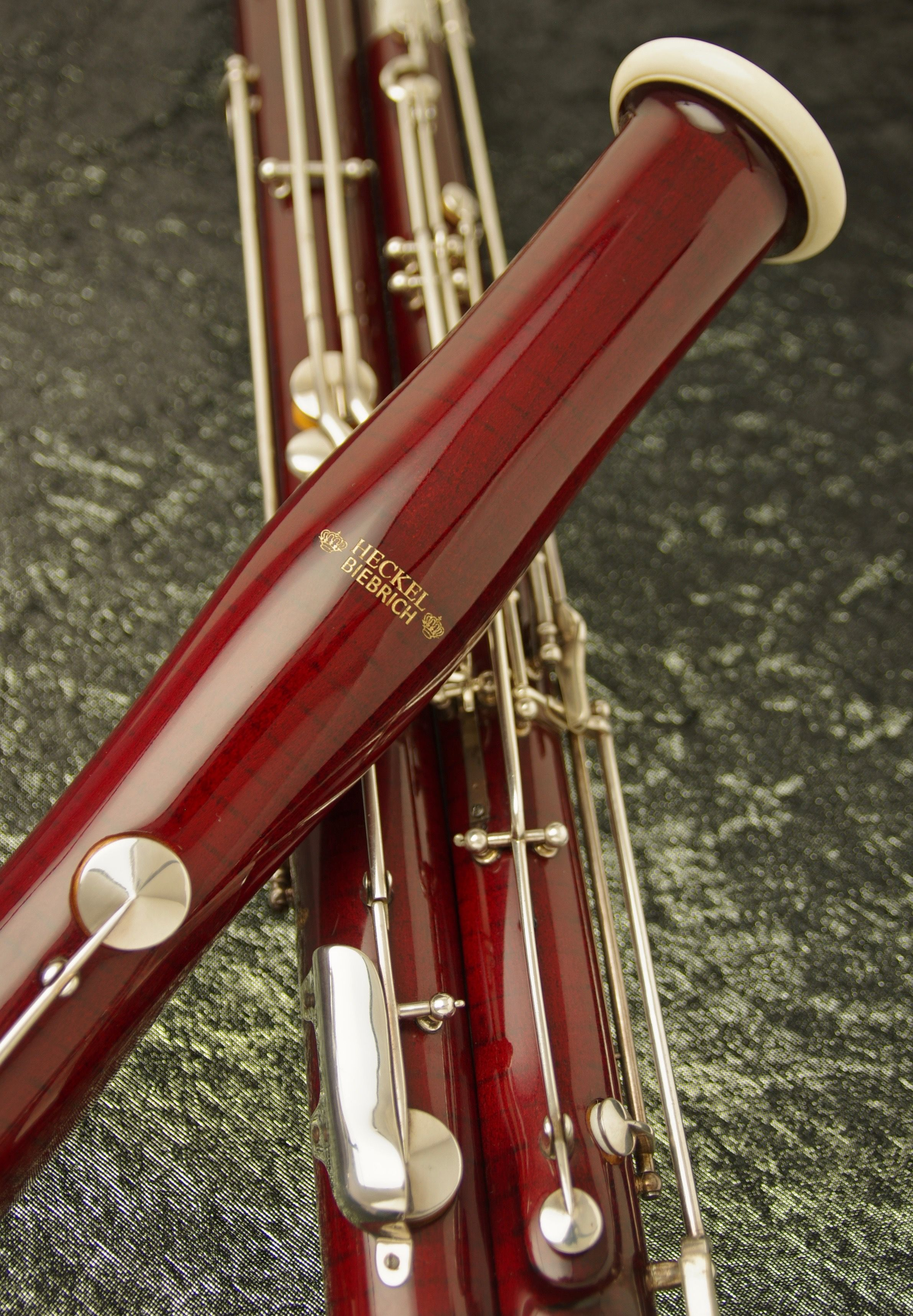 Available now, this Heckel 8000 series bassoon, exquisitely restored