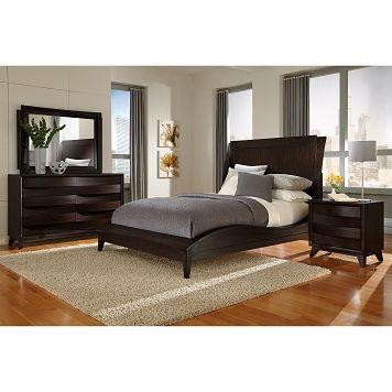 American signature furniture cascade bedroom 6 pc king for American furniture king bedroom sets