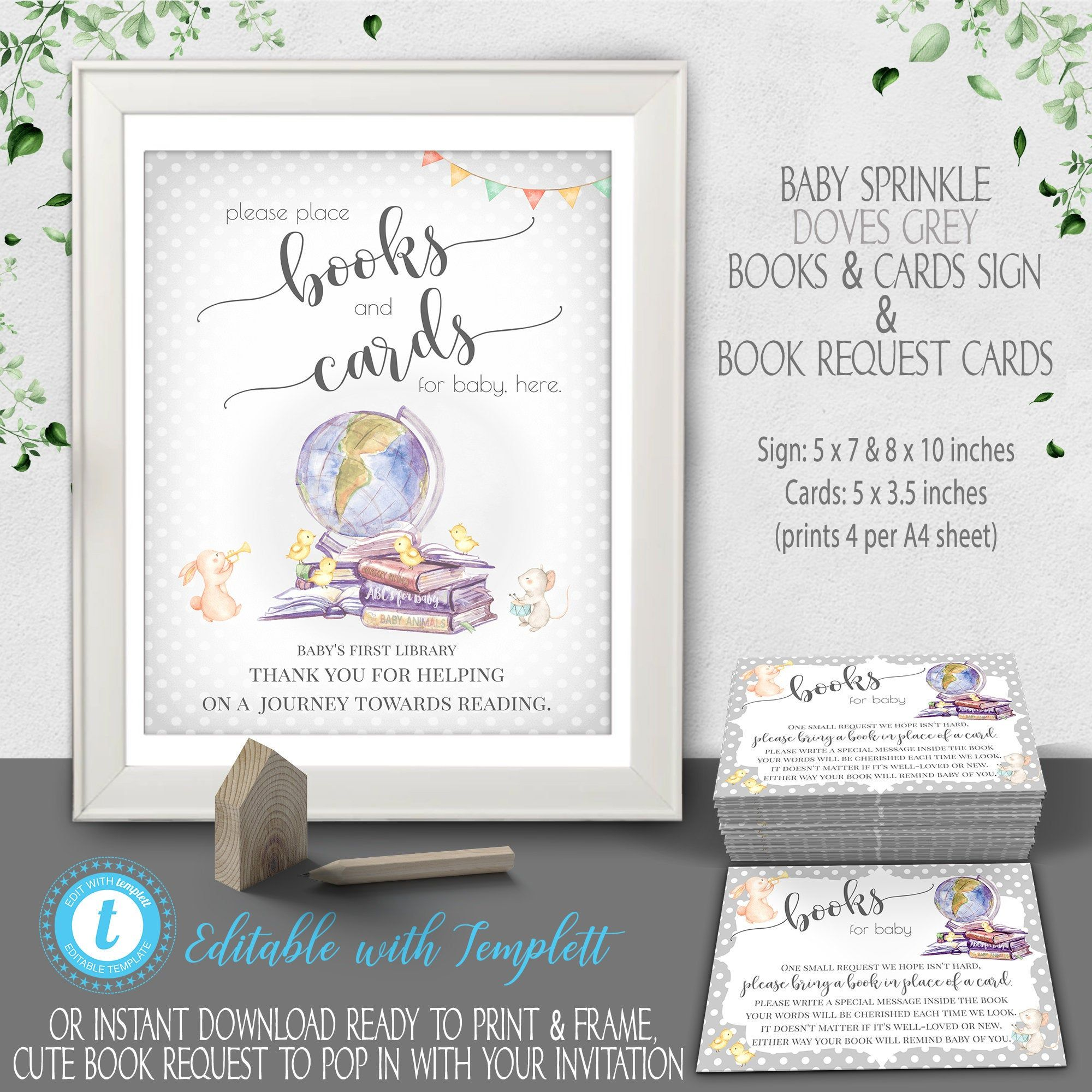 Baby Shower Book Request Bring A Book For Baby Cards Baby Shower Sign Printable Baby Shower Instead Of A Card Instant Download Bs005 Baby Shower Insert Cards Sign Baby Shower