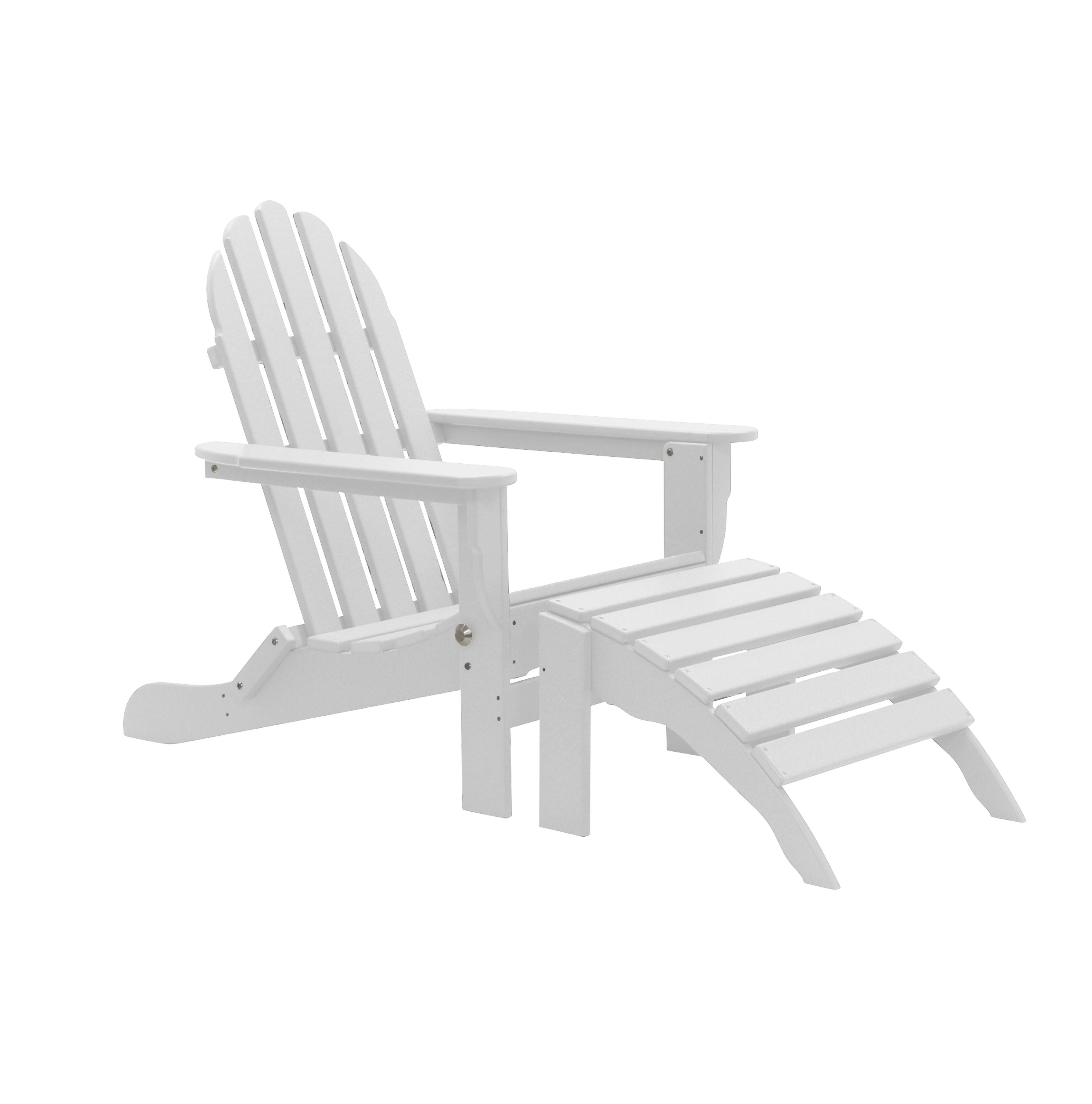 Plastic Resin Folding Adirondack Chair With Ottoman Folding Adirondack Chairs Plastic Adirondack Chairs Chair And Ottoman Set