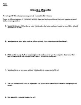 Tension of Opposites Worksheet | teaching - tuesdays with ...
