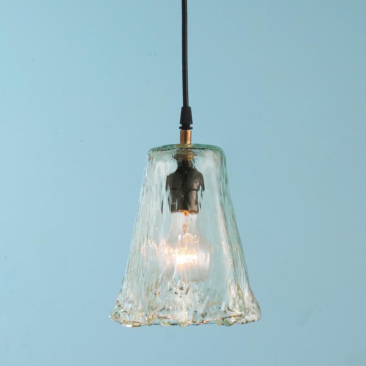 Recycled Ruffle Glass Pendant Glass Pendant Shades Glass Shade Pendant Light Glass Pendant Light