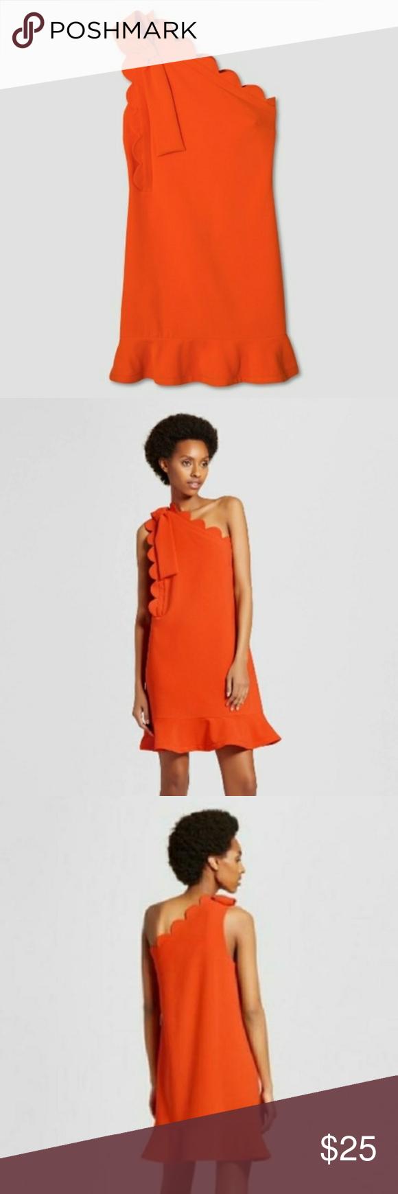 Orange Scalloped Detail Victoria Beckham Dress Victoria Beckham Dress Dresses Target Dresses [ 1740 x 580 Pixel ]