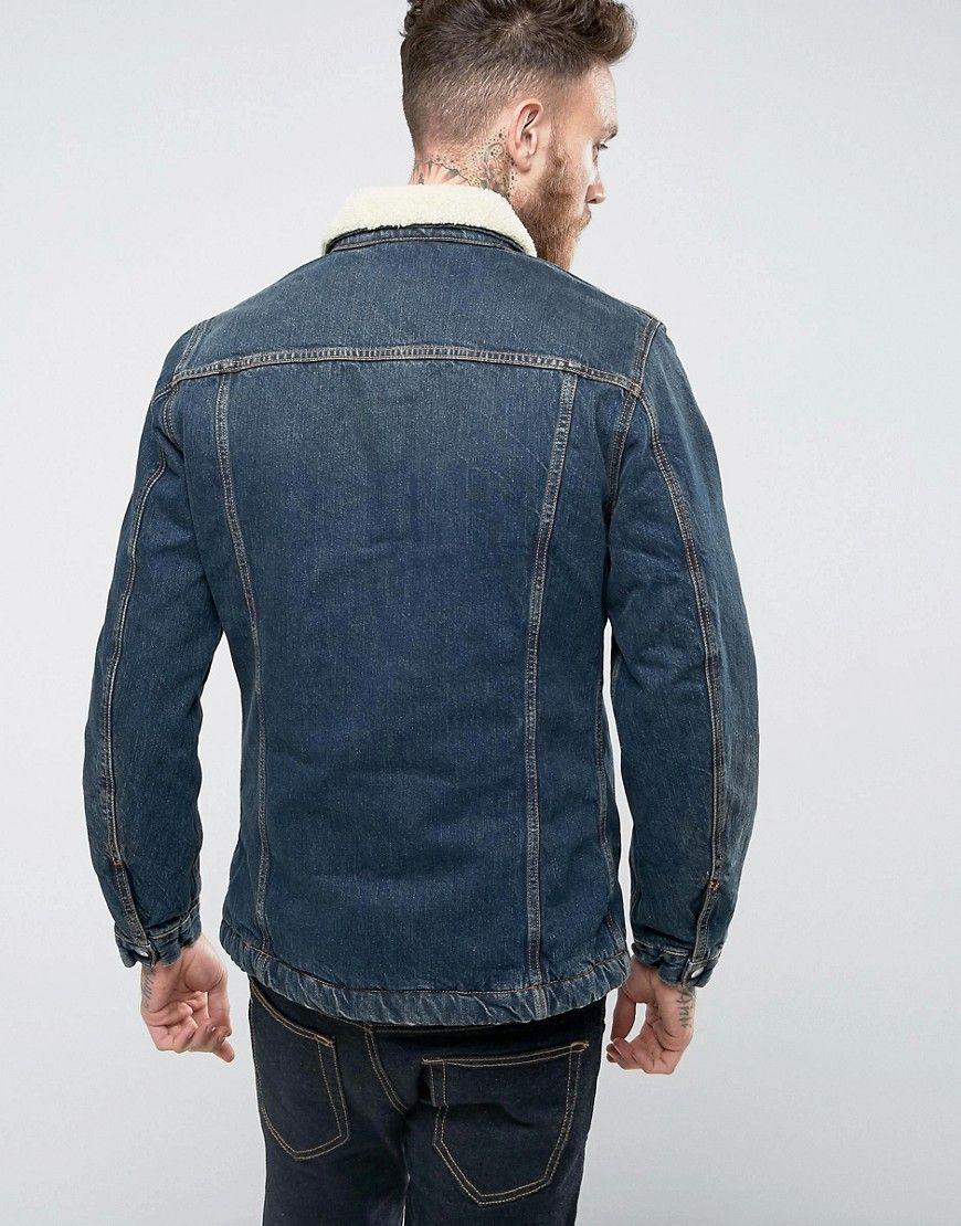 Nudie Jeans Co Lenny Denim Jacket Indigo Steel Navy