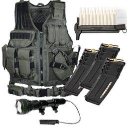 Win - Tactical Vest, 600Lum Mounted Tactical Light, (3) x 30rd Magpul Mags, Striplula LDR AR-15