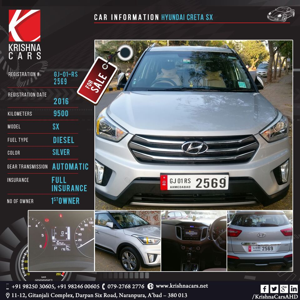 used Car for sale CAR INFORMATION - Hyundai Creta SX REGISTRATION ...