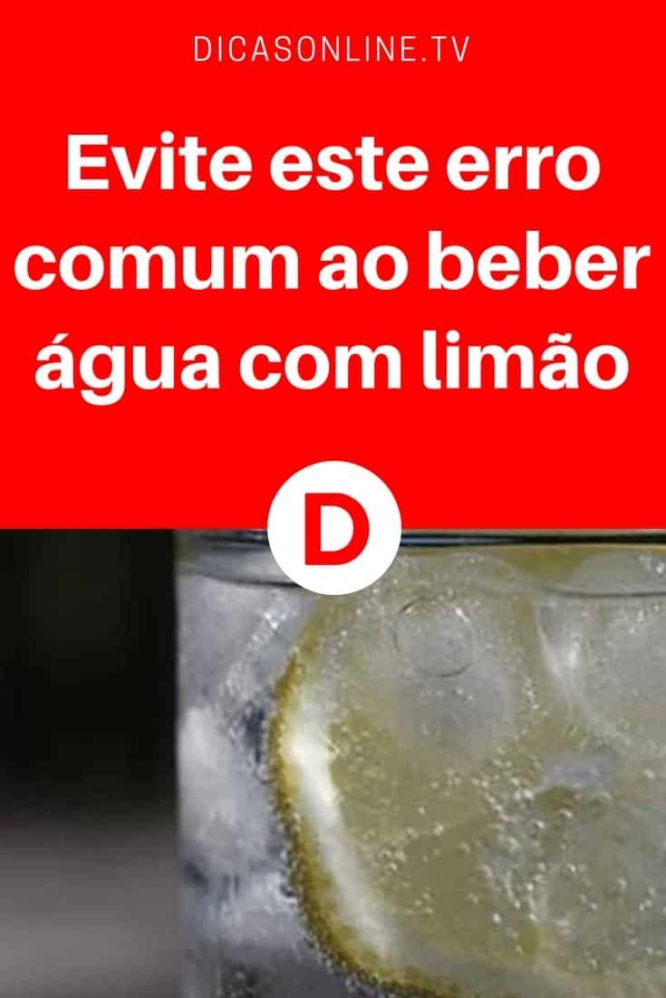 Evite Este Erro Comum Ao Beber Agua Com Limao Agua Com Limao