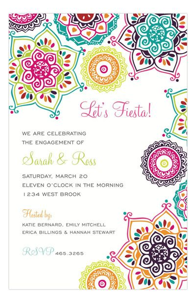 English Paper Company Indie Floral Bright Invitation
