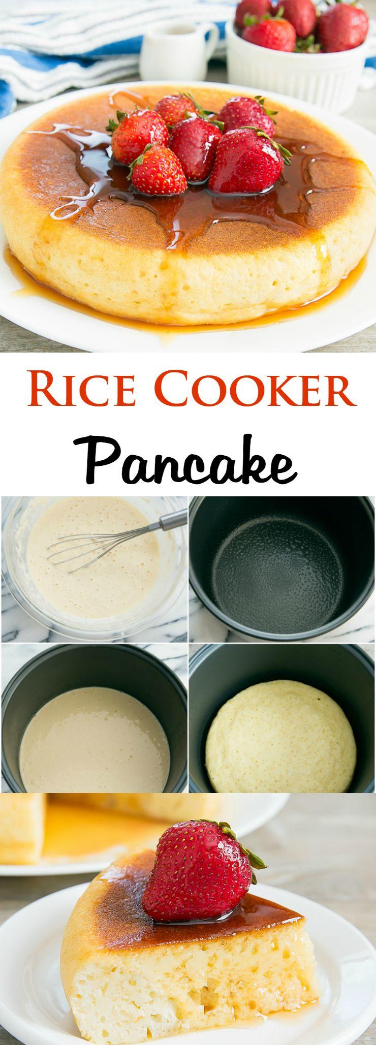 Rice Cooker Pancake | Recipe | Rice cooker pancake, Rice ...