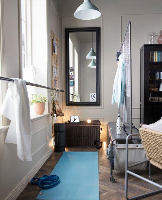 IKEA Deutschland Schaff dir deinen eigenen Trainingsbereich, indem - Wohnzimmer Grau Orange