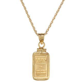 American coin treasures 1 gram gold ingot pendant necklace kewel american coin treasures 1 gram gold ingot pendant necklace aloadofball Gallery