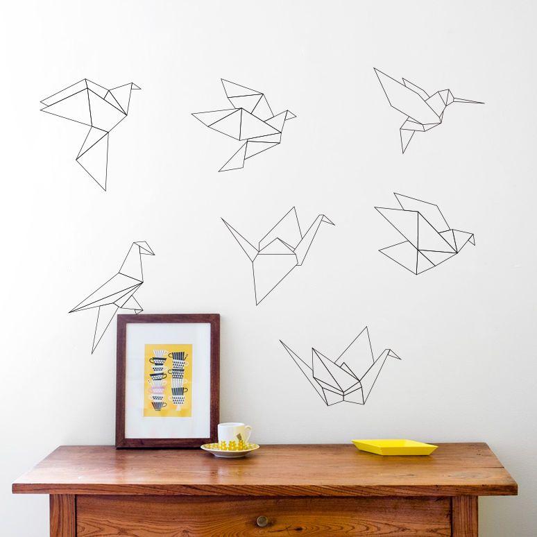 Muur Sticker Ontwerpen.3032 Papercranes Nordic Geometrische Muursticker Home
