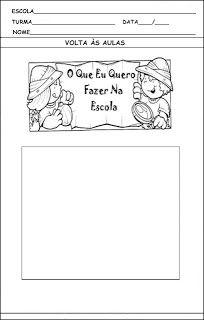 Atividades Prontas Para Imprimir Volta As Aulas Aulas 1º Dia