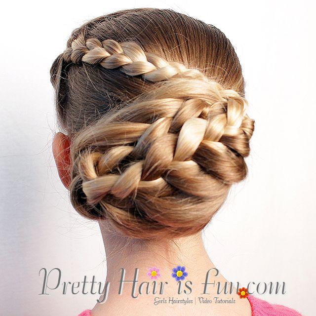 Pretty Hair Is Fun Arrowhead Bun Hair Braids Hairstyles Updos - Hairstyle for valentine's dance