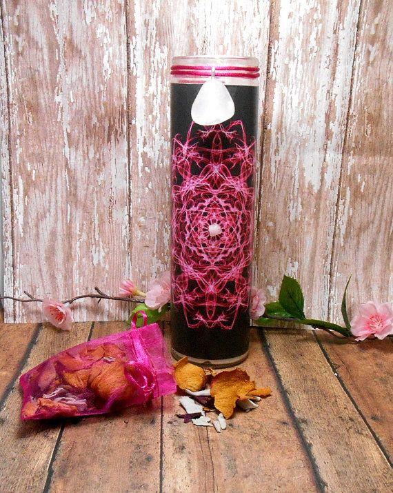 Love Energy 7 Day Candle  Rose Quartz Rose by SpiritualPathways, $14.00