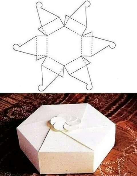 Caja hexágono | Hacer cajas de regalo, Hacer cajitas de carton ...