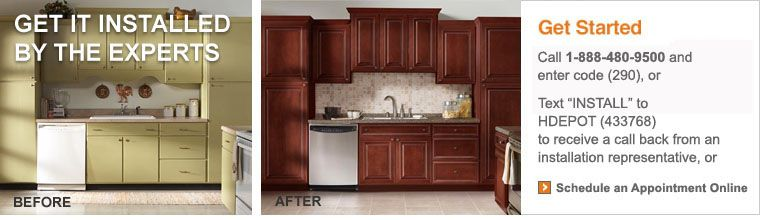 Home Depot Kitchen Cabinets | Cabinet Refacing | Cabinet Installation |  Home Depot Cabinet Installer
