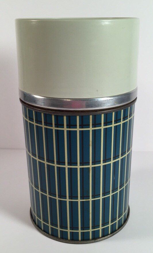 Vintage Aladdin green plaid thermos by AAWoodAndVintage on Etsy https://www.etsy.com/listing/235806261/vintage-aladdin-green-plaid-thermos