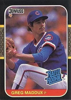 1987 Donruss Baseball Greg Maddux Rookie Card By Donruss 4 95 1987 Donruss Baseball 36 Greg Maddux Rook Baseball Cards Cubs Baseball Baseball Trading Cards
