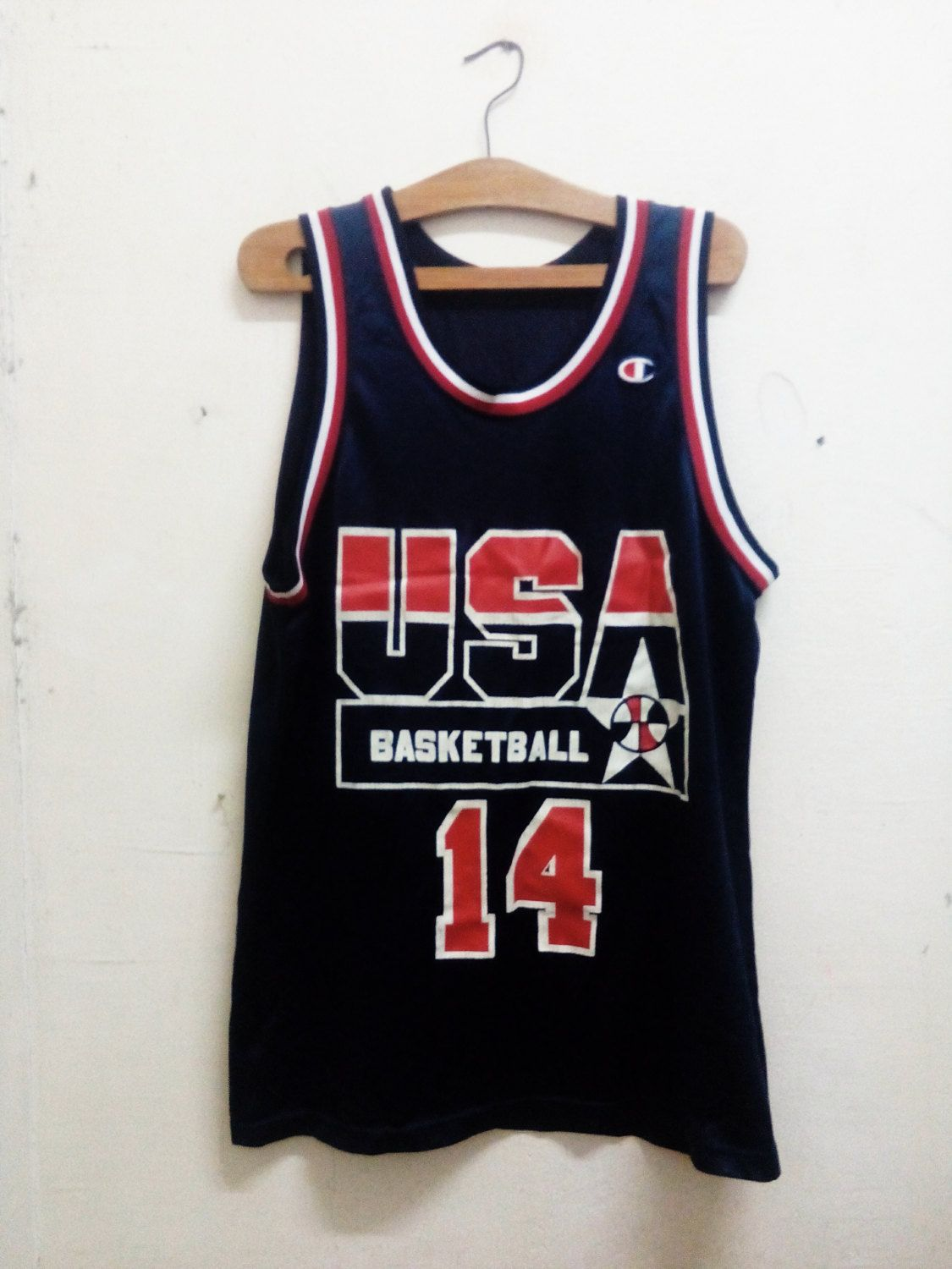 a03307681 Vintage NBA USA Dream Team II  14 Alonzo Mourning National Team Basketball  Jersey Hip hop Style Big logo Designs Unisex Sz42 by Psychovault on Etsy