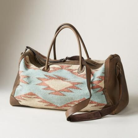 Journey in style with our  Crossroads of the West  duffle bag crafted in  woven wool and leather. 985c0ff8cff3e