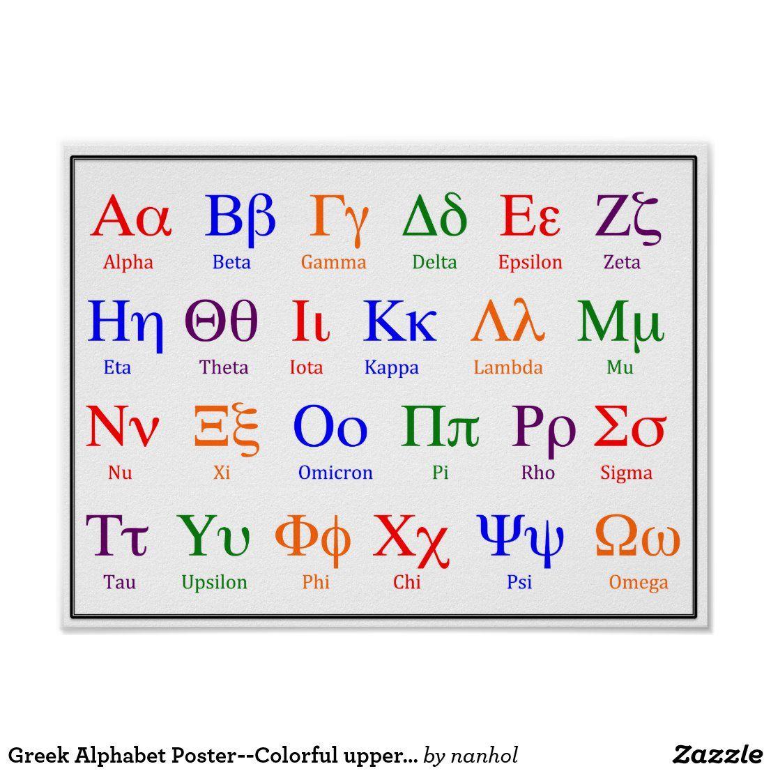 Poster 'lettres grecques' par coolmathposters Greek