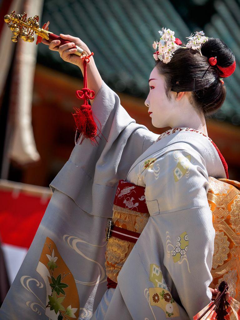 Toshiemi during Reitasai Hono Buyo Matsuri