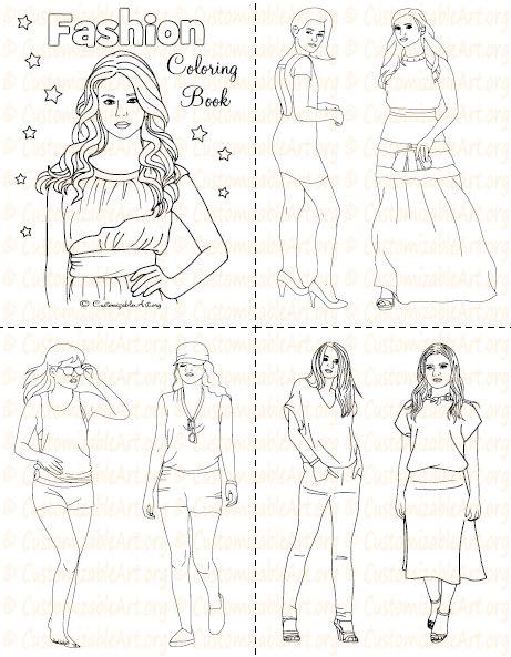 Fashion Coloring Book Printable Fashion Book Girl Women ...