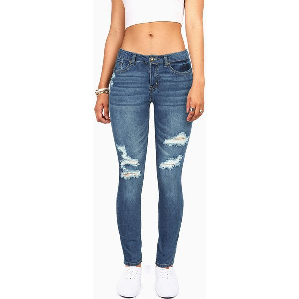 7588f38a421 WAX JEAN Skyline Skinny Jeans ( 30) ❤ liked on Polyvore featuring jeans