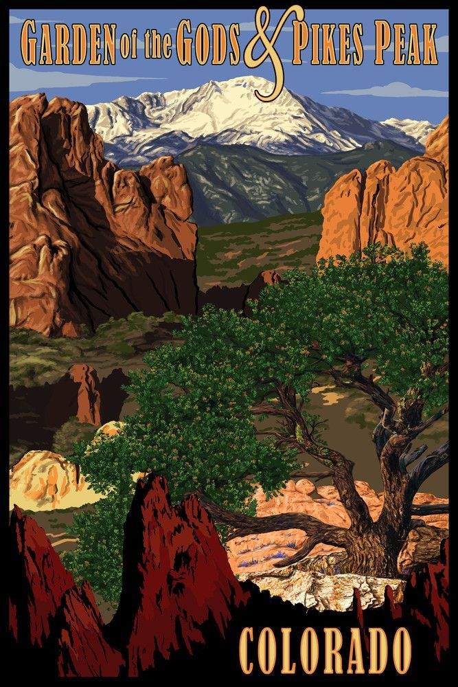 Print Pikes Peak From Garden Of The Gods Colorado Lantern