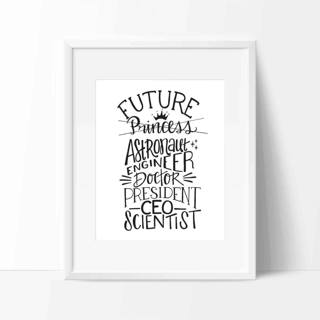 Nursery Print, Feminist Print, Feminist Art, Art Print, Girls Room, Baby Shower Gift, Future Preside images