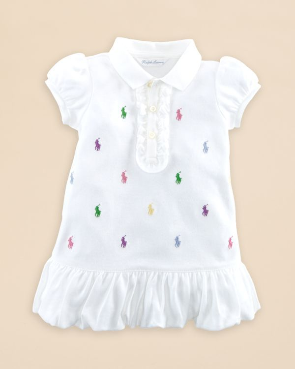 2b862911853 Ralph Lauren Childrenswear Infant Girls  Schiffli Polo Dress - Sizes 3-12  Months