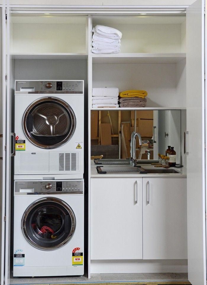 washing machine stacked