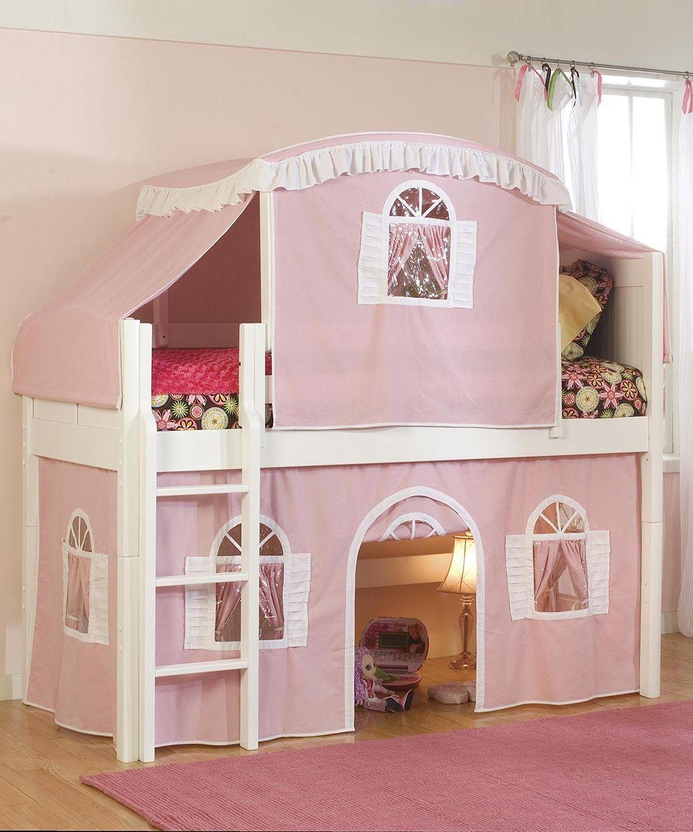 Best Pink White Cottage Low Loft Tent Bed Camas De Loft 400 x 300