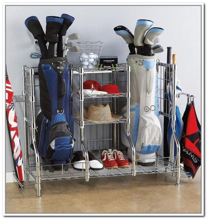 Golf club storage rack holcombe clubs