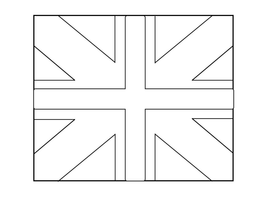 Uk Flag Coloring Page Vlag