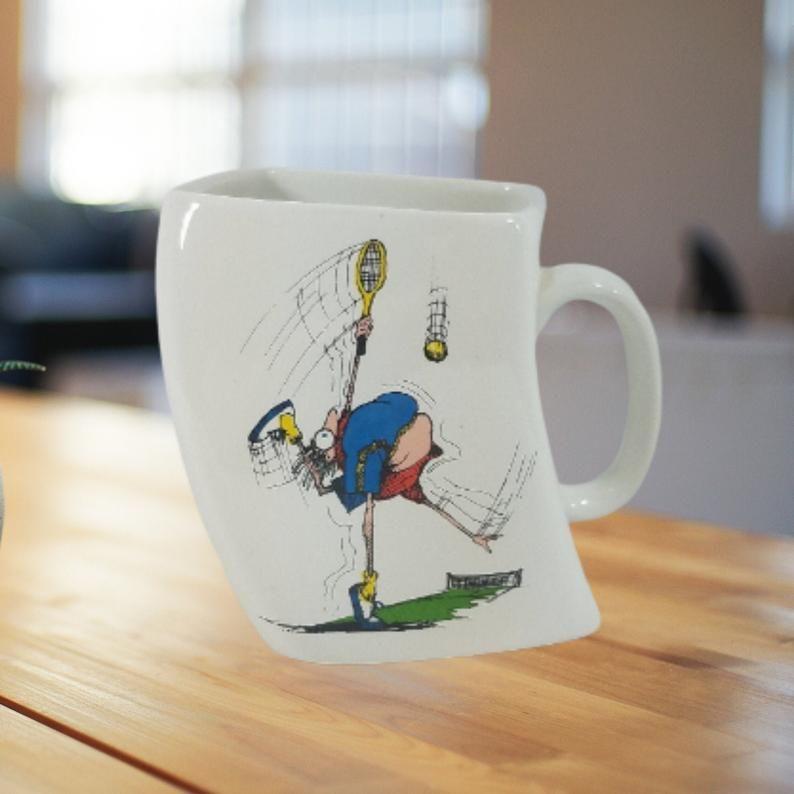 Funny Tennis Gifts Tennis Coach And Tennis Player Coffee Mug Gift Idea Painted Coffee Mugs Mugs Christmas Mugs