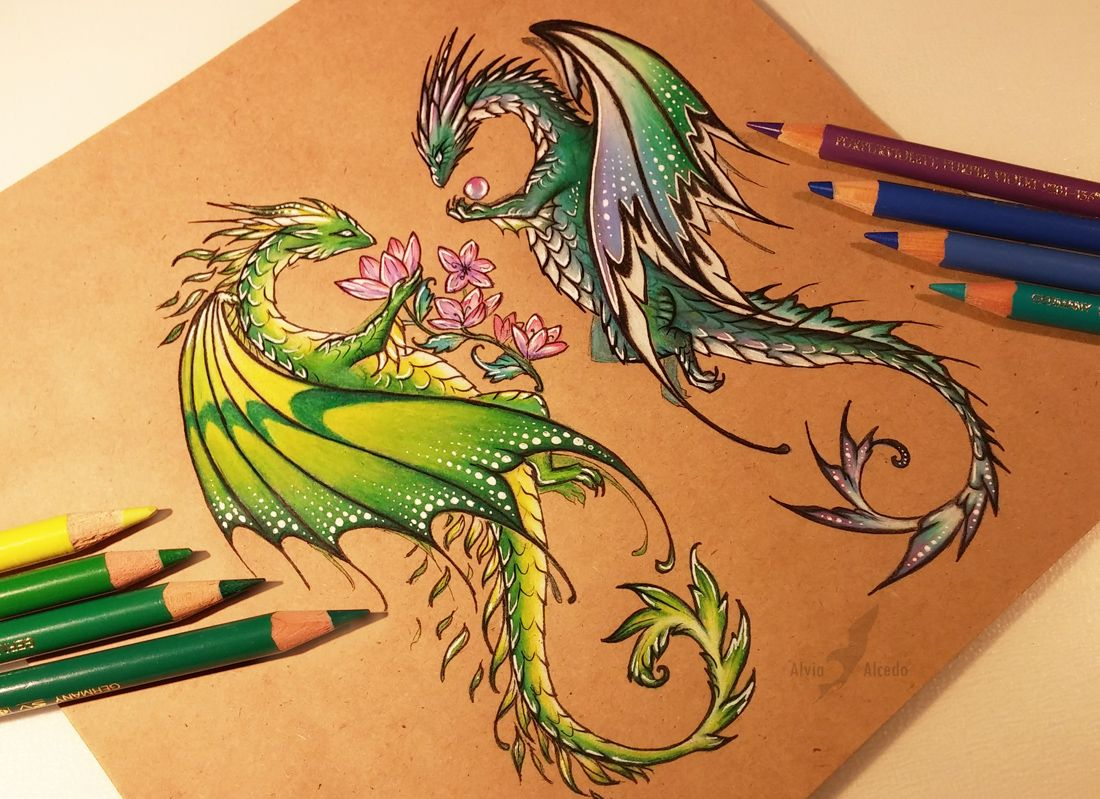 This is a graphic of Hilaire Cute Nature Dragins Drawing