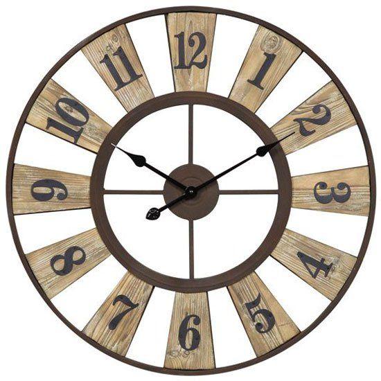Cooper Classics Minden Clock Rustic Wall Clocks Oversized Wall Clock Large Wall Clock