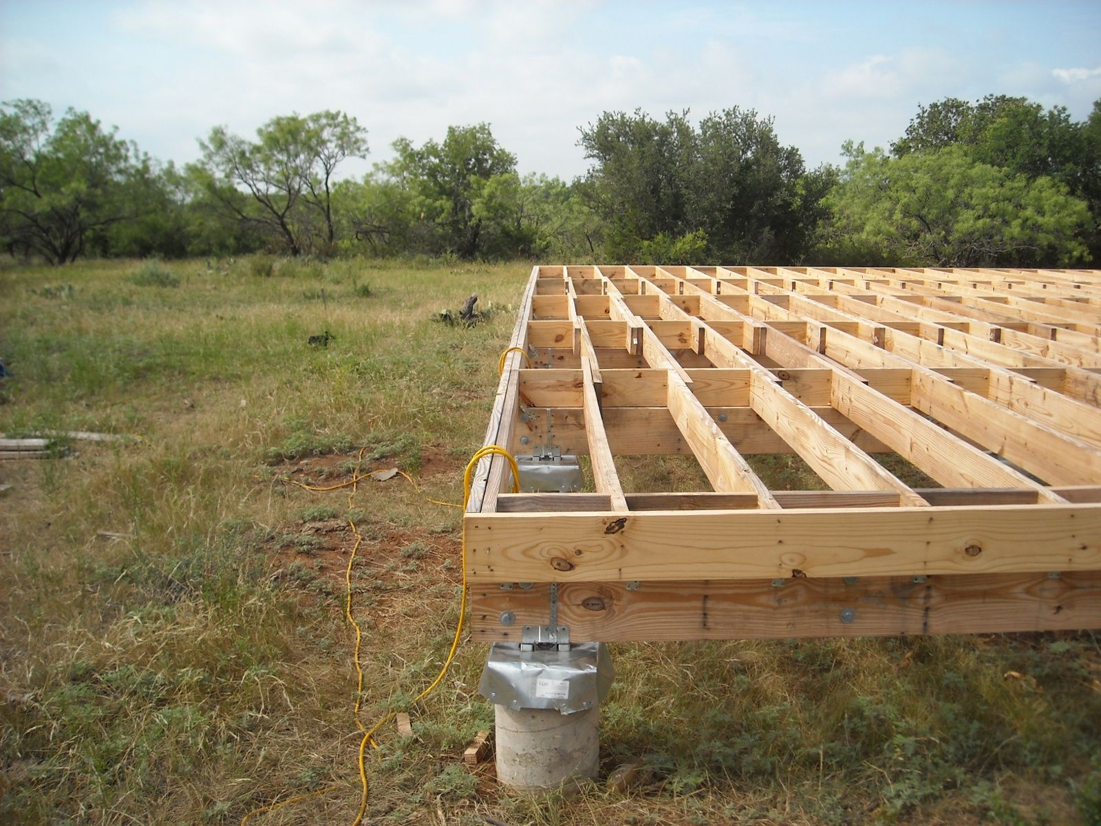Joists after getting the joists in place i added the for Building a pier and beam foundation