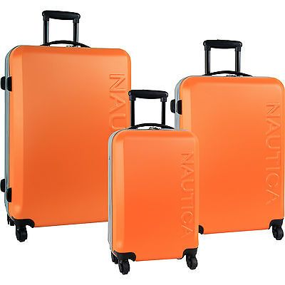 NAUTICA AHOY HARDSIDE SPINNER 3 PIECE LUGGAGE SET ORANGE SILVER $1040 VALUE NEW https://t.co/IobQKNkGpa https://t.co/F1YZlRKyJJ