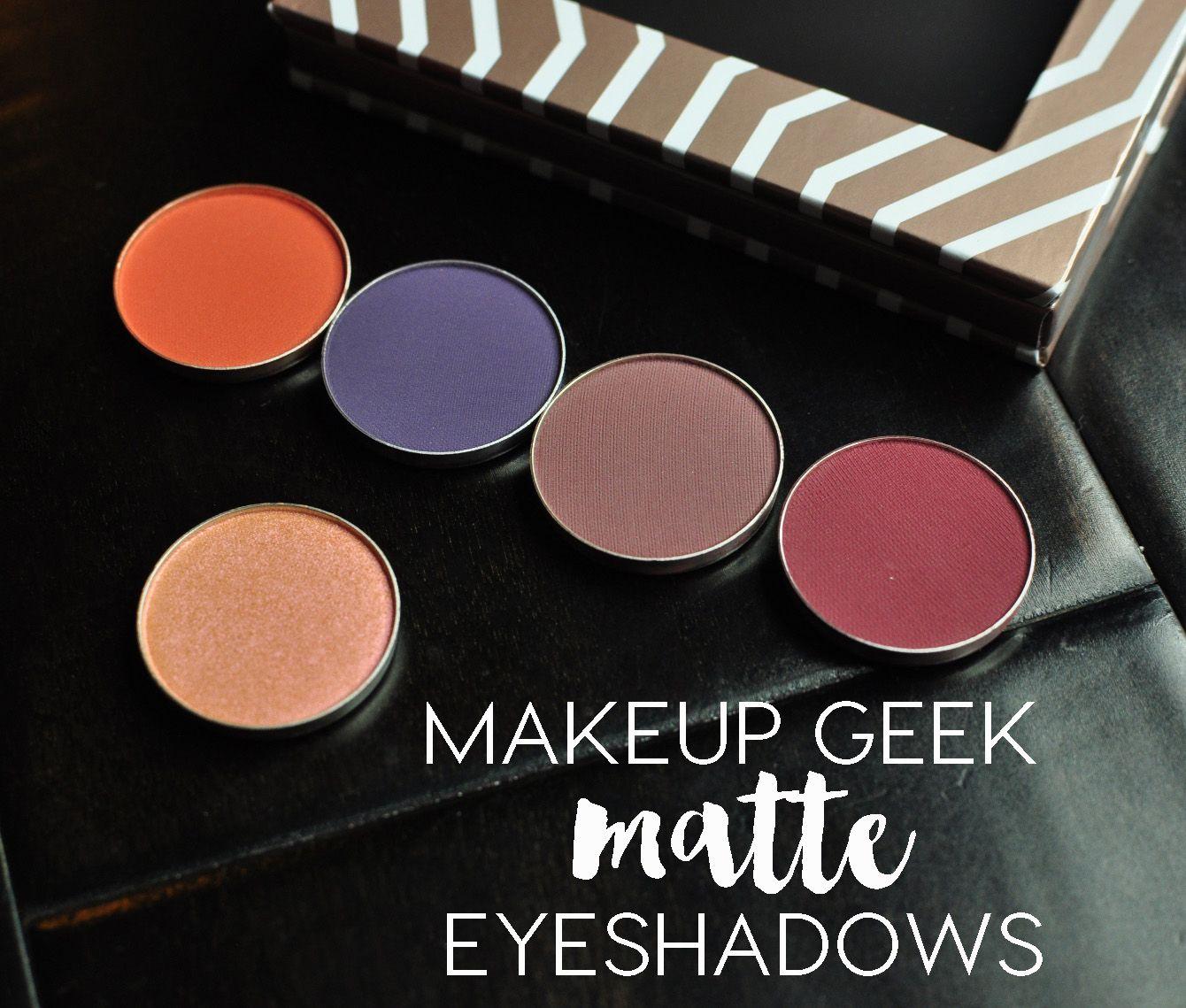 Makeup Geek Matte Eyeshadows Review Makeup geek