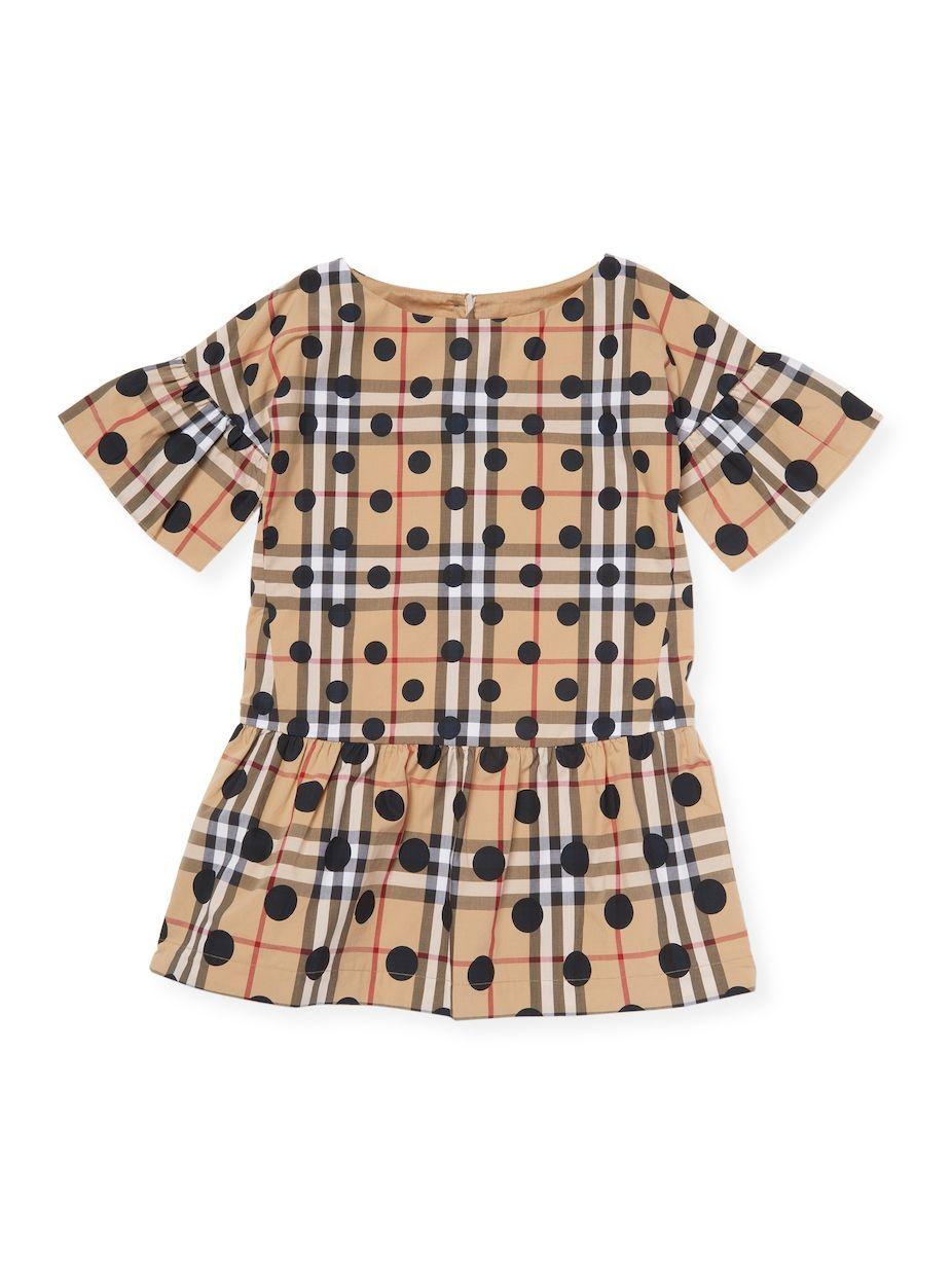 ec2a93ae6c8f4 Burberry Little Girl s Check Polka-dot Dress