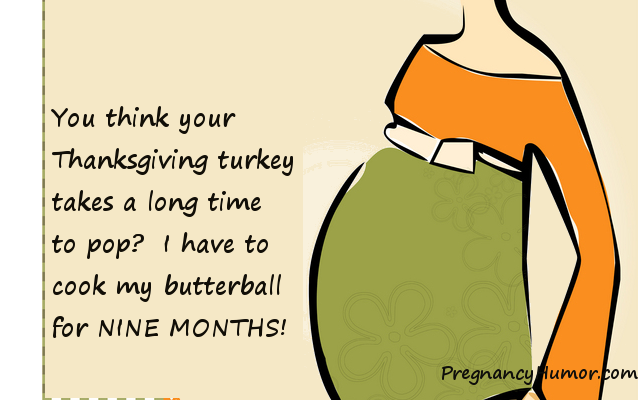 thanksgiving pregnancy ecard
